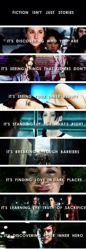 Girl Power! Tris Prior from Divergent, Clary Fray from The Mortal Instruments, Melanie from The Host, Katniss Everdeen from The Hunger Games, Hazel Grace #TFIOS, Harry Potter, Percy Jackson
