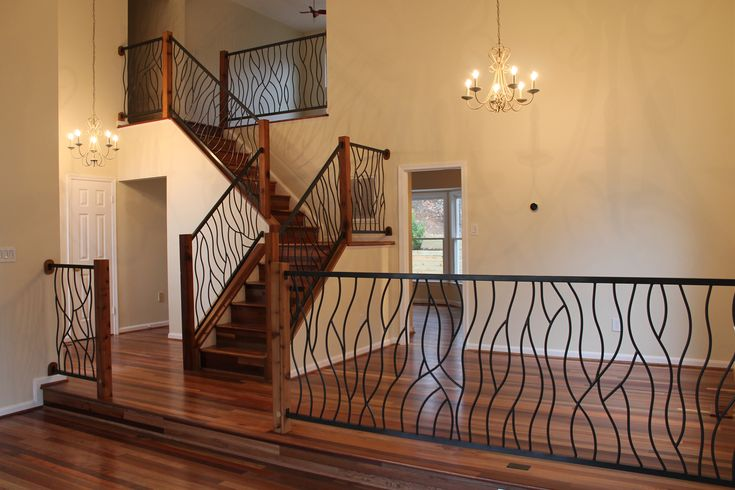 rod iron railing | Wrought Iron Interior Railing in our Artisan BENT Design
