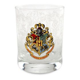 Universal Studios Wizarding World of Harry Potter Hogwarts Crest Double Old Fashioned Glass New