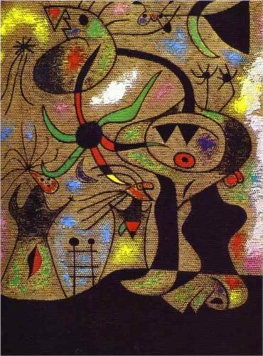 Joan Miro (1893 - 1983) | Surrealism | The Escape Ladder - 1939