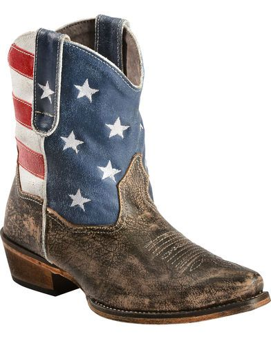 Roper Americana Shorty Boots - Snip Toe - Country Outfitter