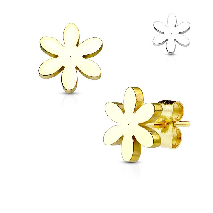 Meet Our New Pair of Flower 316L Stainless Steel Earring Studs #BodyJewelry #Piercing #Jewelry #BodyPiercing #Earrings #Studs  #EarPiercing #Piercer #Tattoo