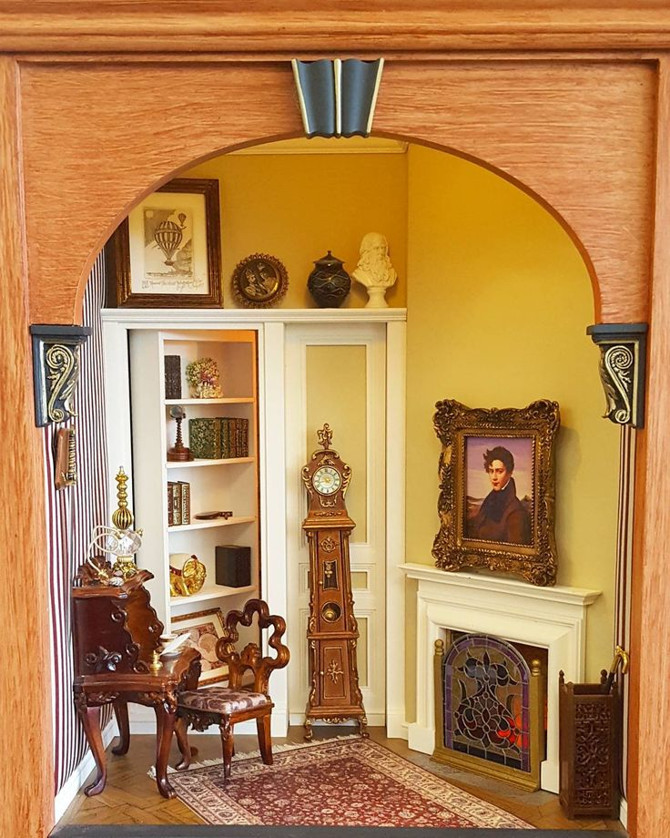 Dollhouse Miniature Roombox Sitting Room: Room Boxes & Rooms Images On