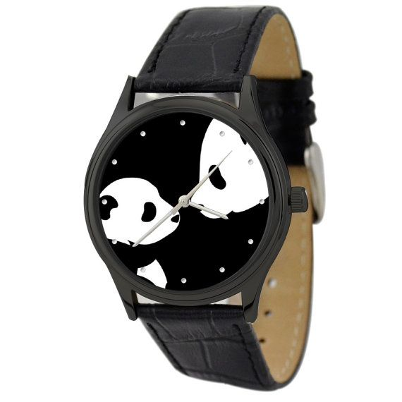 Panda Watch Mon & Son by SandMwatch on Etsy
