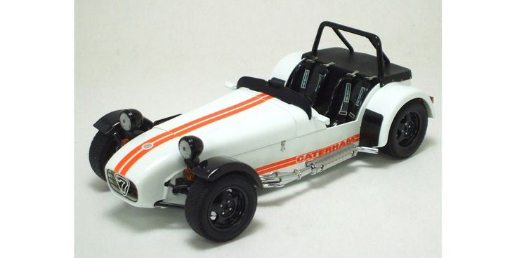 1:18 CATERHAM SUPER 7 JPE CYCLE-FENDER WHTE/ORANGE