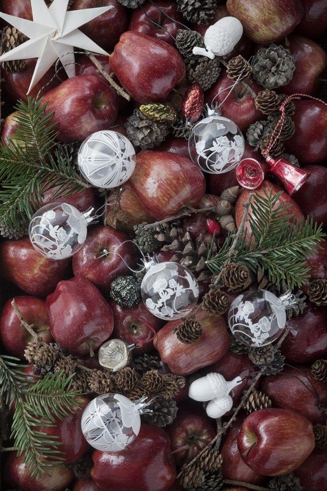 Karen Blixen christmas glass ornaments by Rosendahl