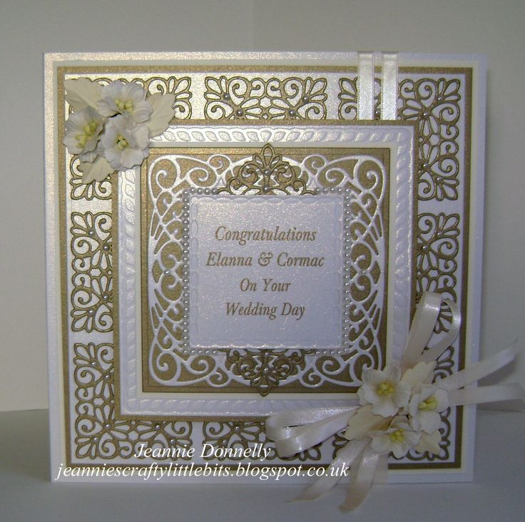 A Wedding Day Card - you've seen these dies cut in Silver, here's the dies cut…