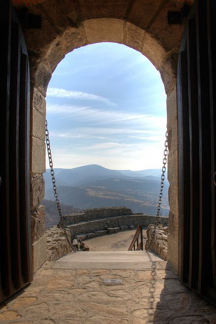 Visegrád Mountains from the Castle of Visegrád, Hungary