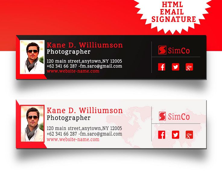 HTML EMAIL SIGNATURE on Behance