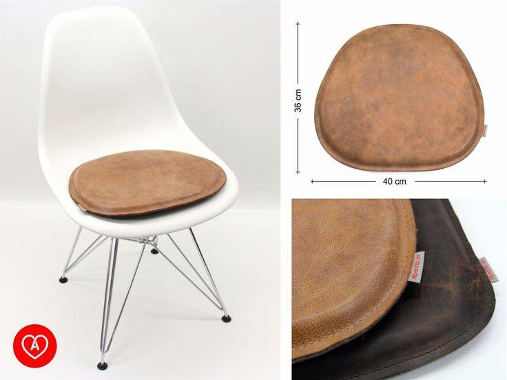 Sitzkissen, Wollfilz, Antikleder für Eames Chair von Alpenfilz via dawanda.com
