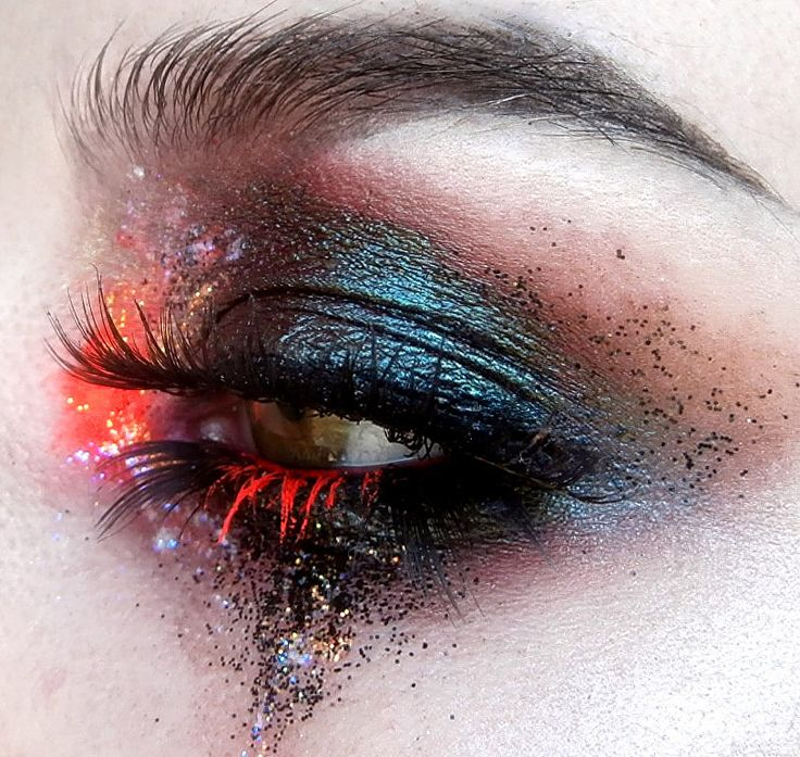 Black blue orange red neon colored lashes brown color  nooofacey