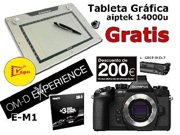 Olympus E-M1 negra Cuerpo + HLD-7  con tableta grafica de regalo GRATIS!!!