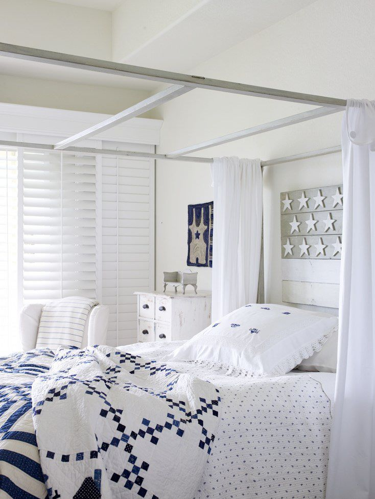 Blue And White Bedroom Love The Clean Sharp Look Of This