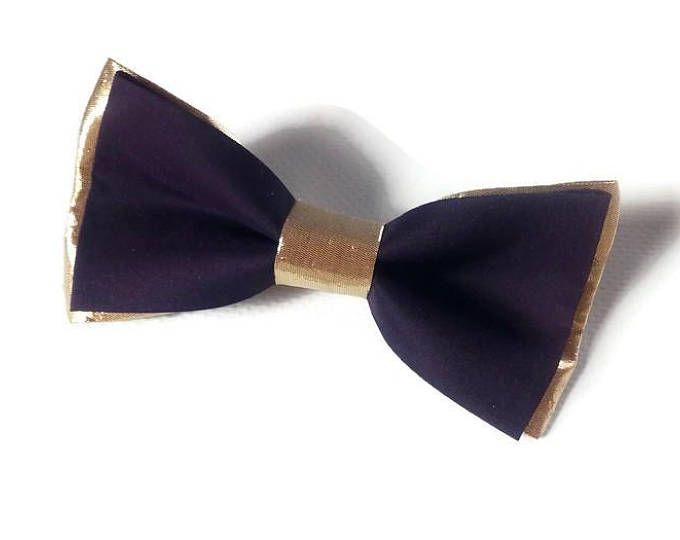 PLUM gold wedding/PLUM gold bow tie/gold & AUBERGINE/wedding/groomsmen/boys/eggplant/dark purple/groomsmen wedding bow ties/groom/ringbearer