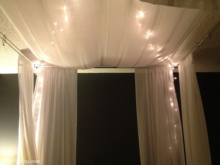 Do It Yourself Canopy Bed best 20+ light canopy ideas on pinterest | bed canopy lights