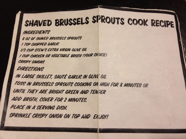 Stew Leonard's Shaved Brussels Sprouts Cook Recipe