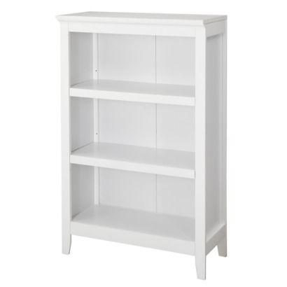 Carson 3-Shelf Bookcase - White.Opens in a new window