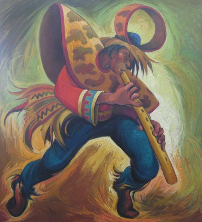 Indio Peruano Con Imagenes Pinturas Arte Peruano Pintura De