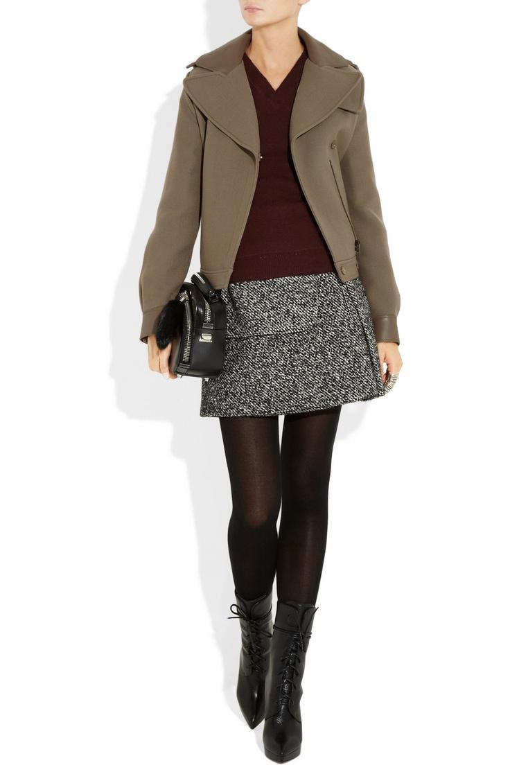 Great combo. Need longer skirt