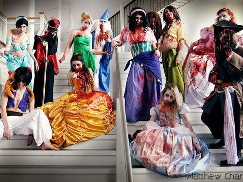zombie disney princess cosplay. love it.