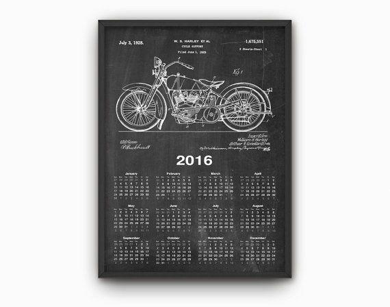 HARLEY DAVIDSON Calendar 2016  Harley Davidson por QuantumPrints