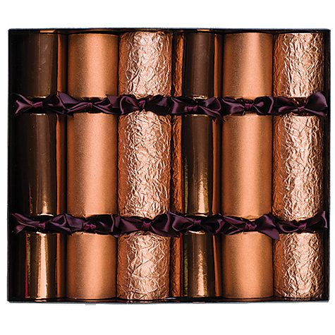 43 best christmas decorations images on pinterest christmas buy celebration christmas crackers pack of 6 copper online at johnlewis solutioingenieria