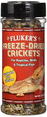Fluker's 1.2-Ounce Freeze Dried Crickets - Freeze Dried Crickets offer the natural nutrition many pets require. The freeze dried insects are an ideal choice for those that don't like to handle live prey. Great for reptiles, frogs, birds, tropical fish, sugar gliders, and hedgehogs!
