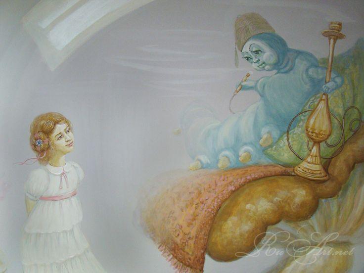 Алиса и Синяя Гусеница долго смотрели друг на друга, не говоря ни слова. Наконец, Гусеница вынула кальян изо рта и медленно, словно в полусне, заговорила....Alice and the Blue Caterpillar stared at each other, not saying a word. Finally, the Caterpillar took the hookah out of its mouth and slowly, as if half asleep, said.