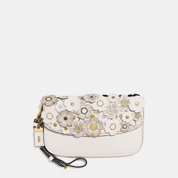 Coach Clutch ($295) ❤ liked on Polyvore featuring bags, handbags, clutches, wristlet clutches, leather crossbody, coach clutches, leather clutches and leather crossbody purse