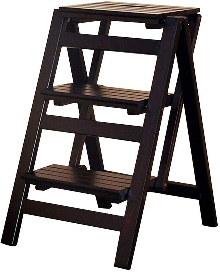 Best Folding 3 Tier Solid Wood Multi Purpose Ladder Stepstool 400 x 300
