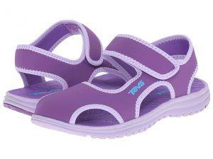 Teva Kids Tidepool CT (Little Kid) (Deep Lavender/Lavender) Girls Shoes
