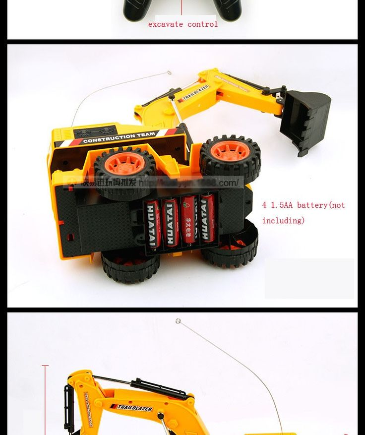 Beautiful Remote Control Digger Excavator Toy For Sale