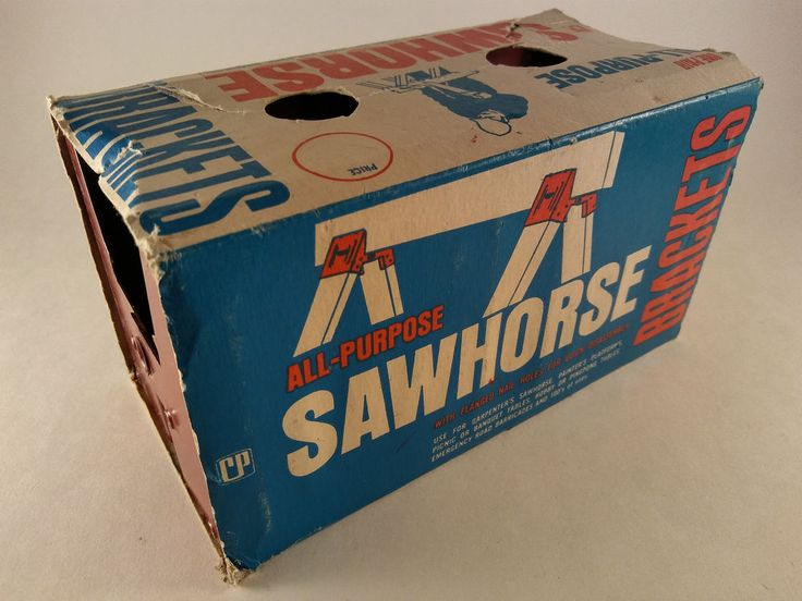 Vintage Crawford Products Metal Sawhorse Brackets 2-Pack  Made in USA -FREE SHIP #CrawfordProducts