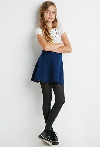 Classic Solid Tights Set (Kids)   Forever 21 girls - 2052289089