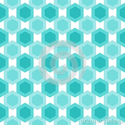 Abstract blue hexagons grid pattern. Seamless tile.
