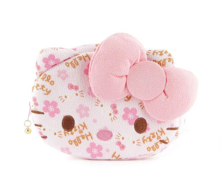 Hello Kitty Face Shaped Pouch: Sakura