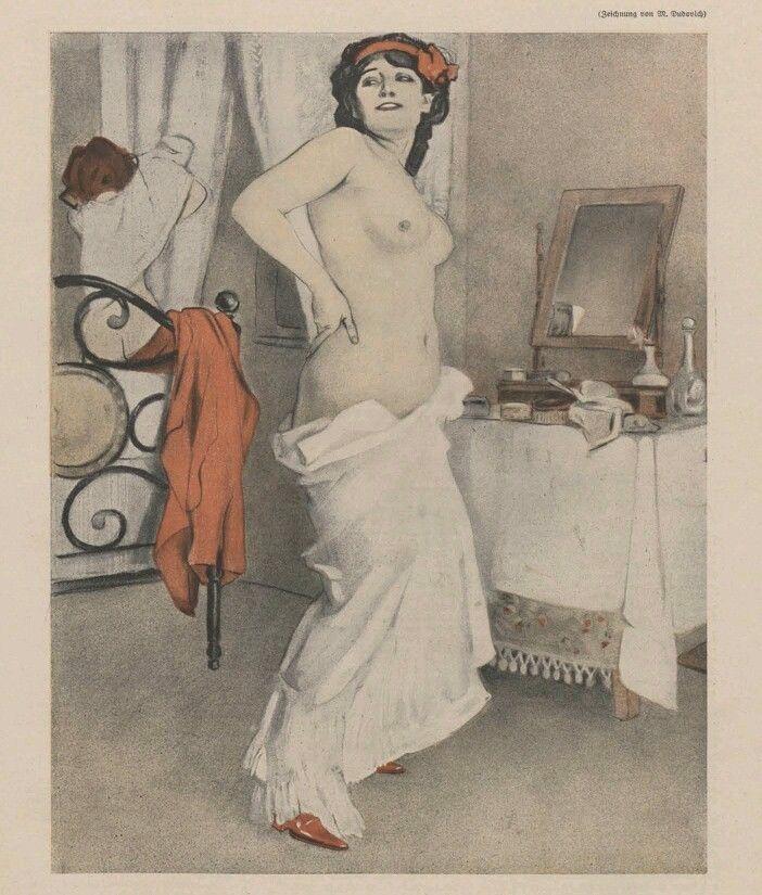 MARCELLO DUDOVICH:1910 - FROM ALBUM CORSO LIBERTY - NUDO / DONNA