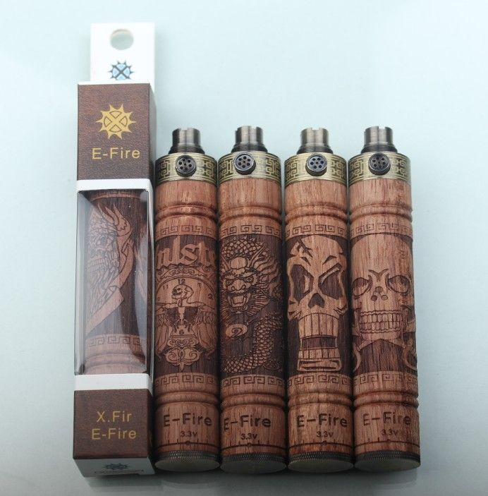 E Fire I Wooden Variable Voltage Battery 900mAh