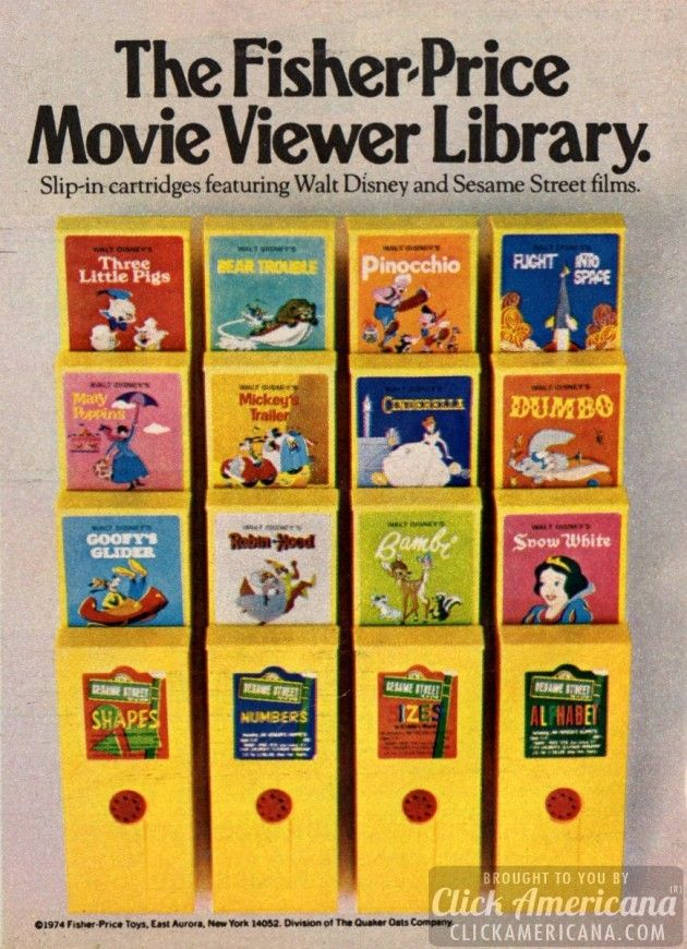 hand cracked movie viewer fisher-price