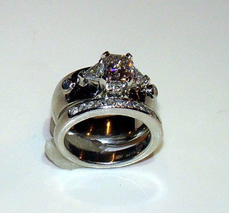 Engagement Ring Wedding Band Set Custom