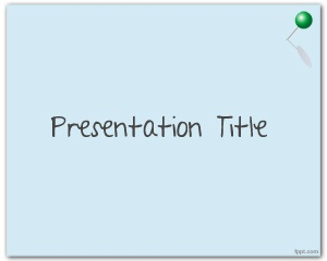 Free Pushpin PowerPoint Templates