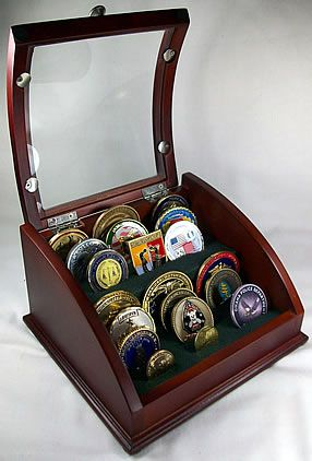 how to make a military challenge coin display