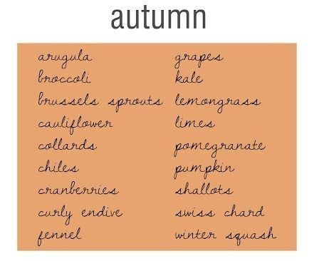 Autumn Foods x