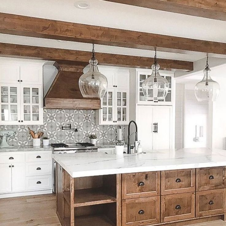 39+ Amazing Modern Farmhouse Kitchen Design Ideas To Blend Modern And Classic Theme