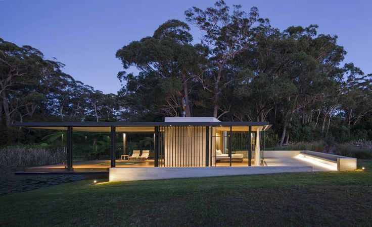 modern glass house australia Wirra Willa Pavilion