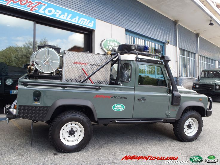 LAND ROVER DEFENDER 110 SUPER PICK UP FIRE RESCUE    LAND ROVER SPECIAL EQUIPMENTS BY MOTORSPORTLORALAMIA