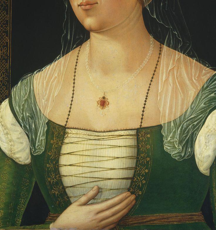 Portrait of a young woman by Girolamo di Benvenuto, c. 1508