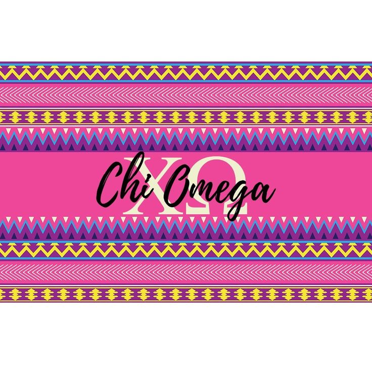 Chi Omega sorority 3 x 5 foot flag - Pink and purple Aztec - Room decor. My flags are designed by me so you will find these designs no where else ! Decorate your dorm, sorority house or yard with this large, colorful flag. A large 3 x 5 feet, these are a definite statement flag ! -Indoor / Outdoor flag. 100% Polyester Mesh flag. 36 inches x 60 inches. -Two grommets on left side for hanging and are printed with dye sublimation and should be hung outside for short times for display as the...