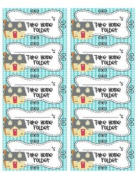 These super cute Take Home Folder Labels will help your students stay organized by clearly identifying their Take Home Folders! However you use Take Home Folders in your classroom, these labels are perfect for you!The labels were created to be used with 2x4 labels such as Avery #5263 or #8463.