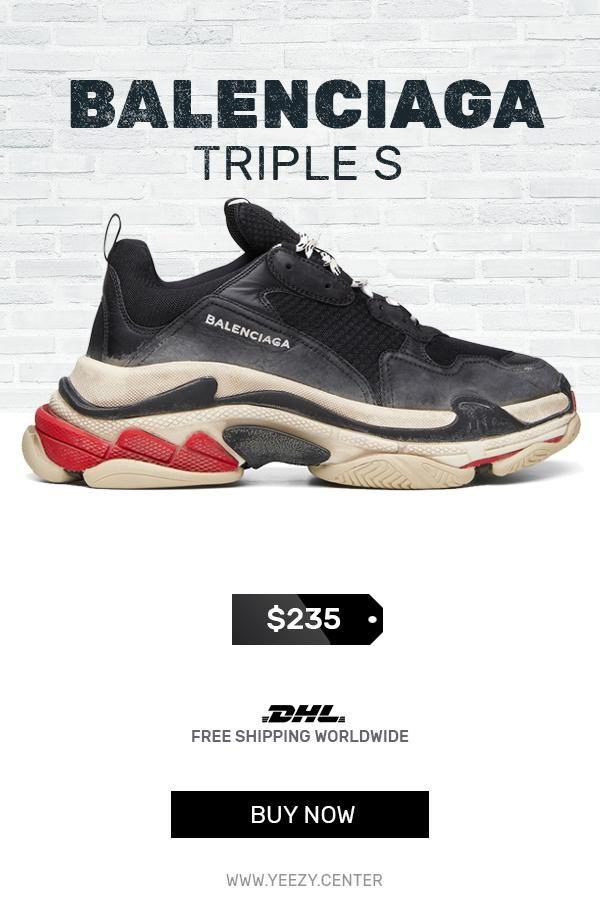 41b685e87306 Womens size cheap Balenciaga Triple S Trainers Black   Red replica ... Balenciaga  Triple S sneakers £645 - Shop Online SS19. Same Day .